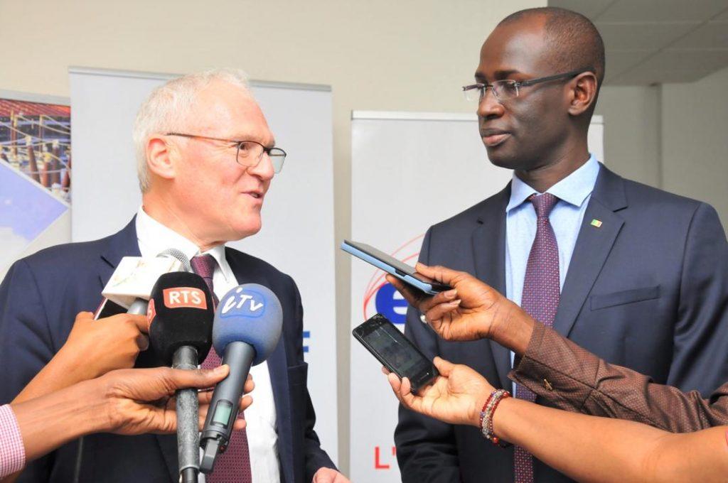 Jean-Bernard Lévy avec Amadou Ly